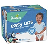 Pampers Easy Ups Training Boys Underwear, Size 4 2T-3T, 74 Count