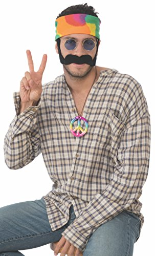 Rubie's Men's Deluxe Adult Costume Accessory Kit, Hippie Male, One Size -