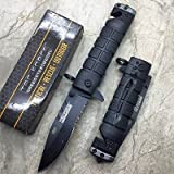 Boot Knife Holster Best Deals - Tac-Force spring Assisted Open Black Bayonet Style Tactical Rescue Pocket Knife