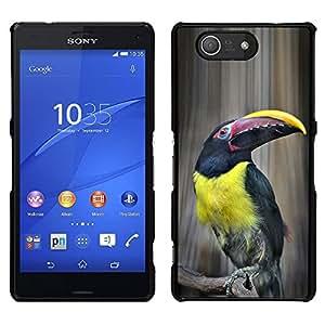 Tucan Yellow Bird Ornitología Especies- Metal de aluminio y de plástico duro Caja del teléfono - Negro - Sony Xperia Z4v / Sony Xperia Z4 / E6508