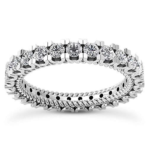 2.36 ct Ladies Round Cut Diamond Eternity Wedding Band Ring in Platinum In Size 4.5