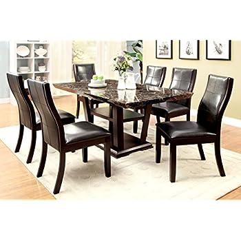 Amazon Com Coaster Co 102061 62x3 Dining Set Black