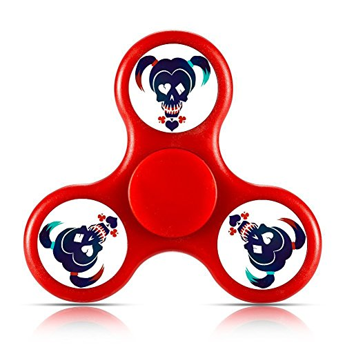 Suicide Squad Harley Quinn EDC Hand Spinner Tri Fidget Fingertip Gyro Stress Relief ADHD ADD Focus Toys High Speed, Best Fidget Toys Fiddle Sensory Toys For Kids Classroom For Camo