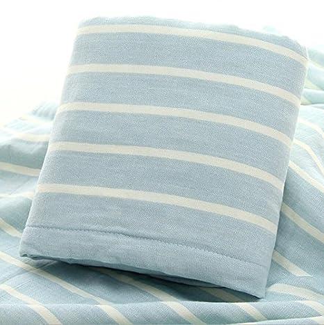 X & L color rayas Simple toalla de baño algodón gasa familia par toallas de baño