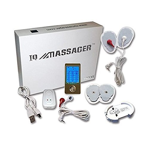IQ Massager Pro 6 - FDA Class 2 Medical Device - TENS & EMS Unit Electronic Pulse Massager, Carpal Tunnel Syndrome, Arthritis, Bursitis, and Other Inflammation Ailments. Pain Relief Ma
