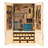 Diversified Woodcrafts TETC-40 Solid Maple Wood All Purpose / Tech-Ed Tool Storage Cabinet, 48'' Width x 84'' Height x 22'' Depth, 3 Shelves