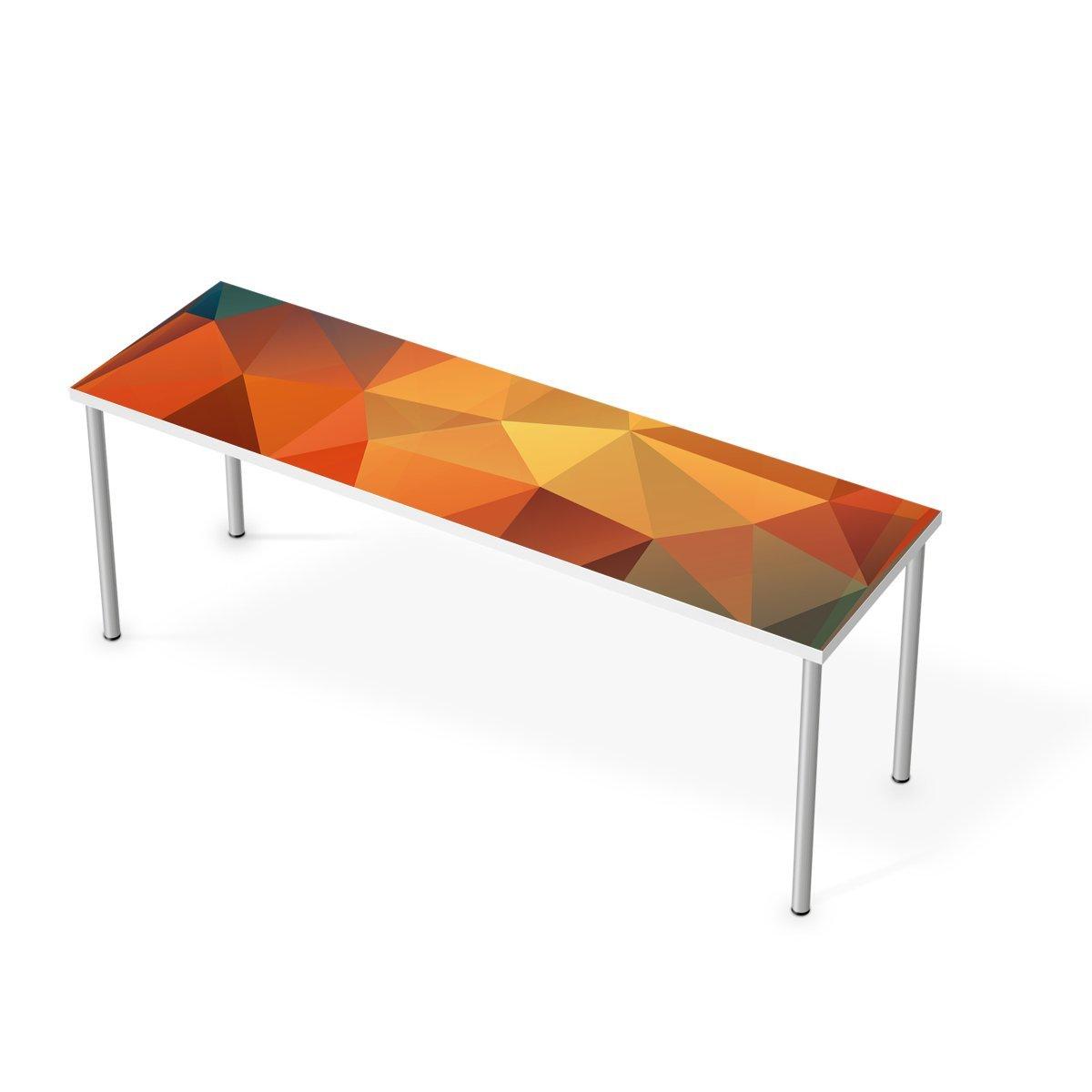 Aufkleber IKEA Linnmon Tisch 200x60 cm/Design Folie Polygon ...