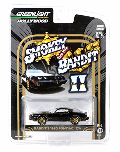 (Greenlight 1:64 Hollywood Series Smokey and The Bandit II Bandit's 1980 Pontiac Trans Am Diecast Car)