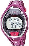 Timex Unisex Adult Sport Sleek 50 Lap Full Size Magenta Resin Strap, Grey Dial, Pink Band (Model: TW5M177009J)