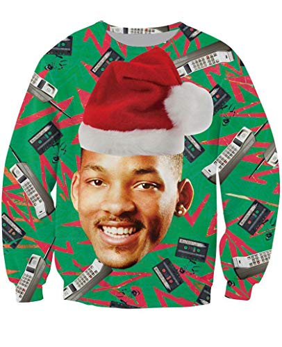 KSJK Unisex Funny Men Ugly Christmas Sweater Jumper , Large .,KMAX011,Large