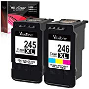 #LightningDeal Valuetoner Remanufactured Ink Cartridge Replacement for Canon PG-245XL CL-246XL PG-243 CL-244 to use with Pixma MX492 MX490 MG2420 MG2520 MG2522 MG2920 MG2922 MG3022 MG3029 iP2820(1 Black,1 Tri-Color)