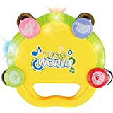 Baoli Happy Jingle Bell Handle Tambourine Rattle Ring with light