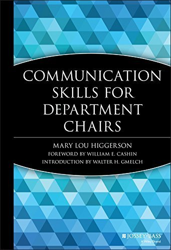 Communication Skills for Department Chairs by Mary Lou Higgerson (1996-08-15)