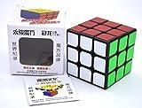 2016 New 5.6cm Yongjun Guanlong Black Cube 3x3x3 PVC Sticker Block Puzzle Speed Magic Cube Educational Puzzle Cubo Magico Toys