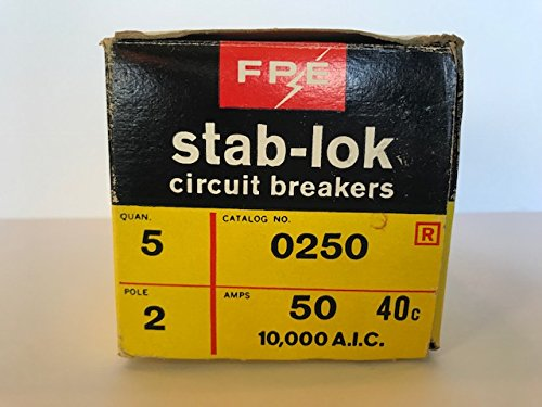 New FPE Federal Pacific NC0250 Circuit Breaker Stab-Lok 2 Pole 50A 240V Thin (Pole 50a 2 Breaker)