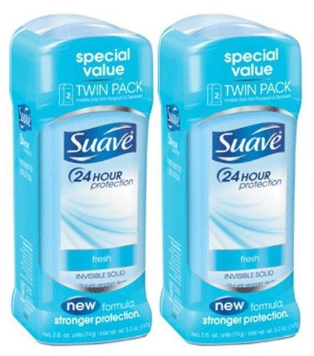 (Suave 24 Hour Protection Invisible Solid Deodorant for Women, Fresh - 5.2 oz - 4 pk )