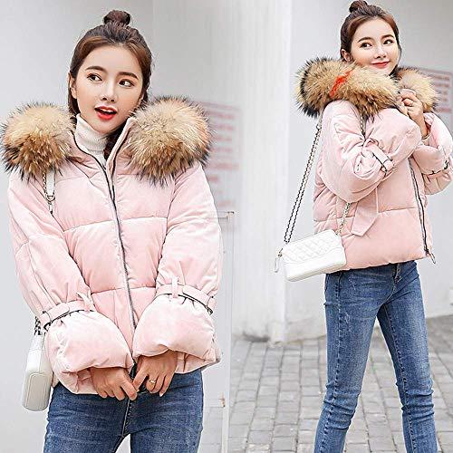 vêtements occasionnels taille zhrui paragraphe mince solide veste d'hiver chaud Manteau et d'extérieur femmes xl rose couleur épais qCpxFRwE