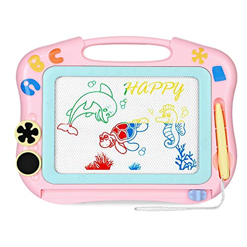 CAZON Magnetic Drawing Board Toy, Doodle Board for Toddlers, Rewritable Color Magnetic Drawing Board for Kids, Boys and Girls Birthday Gift.