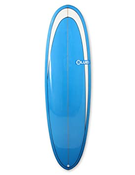 Blue Dot Retro Alfombra Tabla de surf 6 ft 10 – Azul