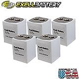 5pc Exell 266 Alkaline 9V Battery NEDA 1605, PP7, 6F90