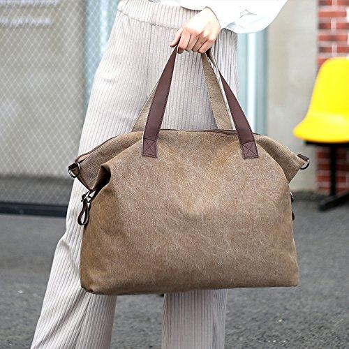 amp; Sacs Sac Femme Noir Young Portés Ming Main Épaule Toile Handbag Grande Bandoulière Cabas zXwdqdS