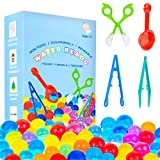 KINFAYV Water Beads - 70000 Beads 1 Scoop 2 Tweezers 1 Spoon, Soft Water Jelly Beads Motor Skills Toy Set,Non-Toxic Water Sensory Toy for Tactile Toys,Sensory Toys,Early Skill Development