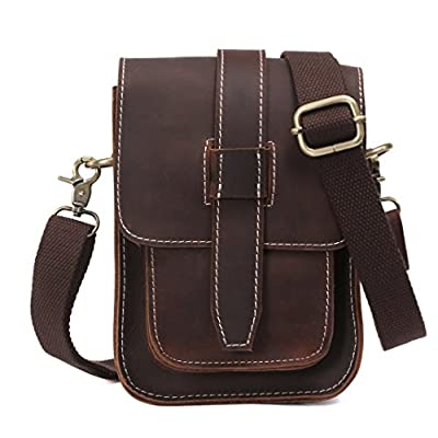 d38af3e4f2 Genda 2Archer Vintage Small Leather Chest Bag Fanny Purse Crossbody Bag for  Men chic
