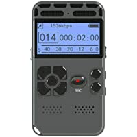 Digital Recorder, Voice Recorder Rechargeable Professional Audio Support Noise Reduction Mp3 Player LED Display Recording Pen,32GB