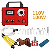 K&A Company 100W 110V Gourd Wood Multifunction Pyrography Tools Machine Heating Wire Pen Kit Tool