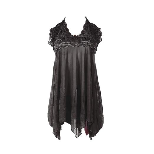 671994ee45346 Lingerie THENLIAN Women Lingerie Halter Sexy Lace Plus Size Sleepwear Mesh  Nightwear Lace Underwear(XL