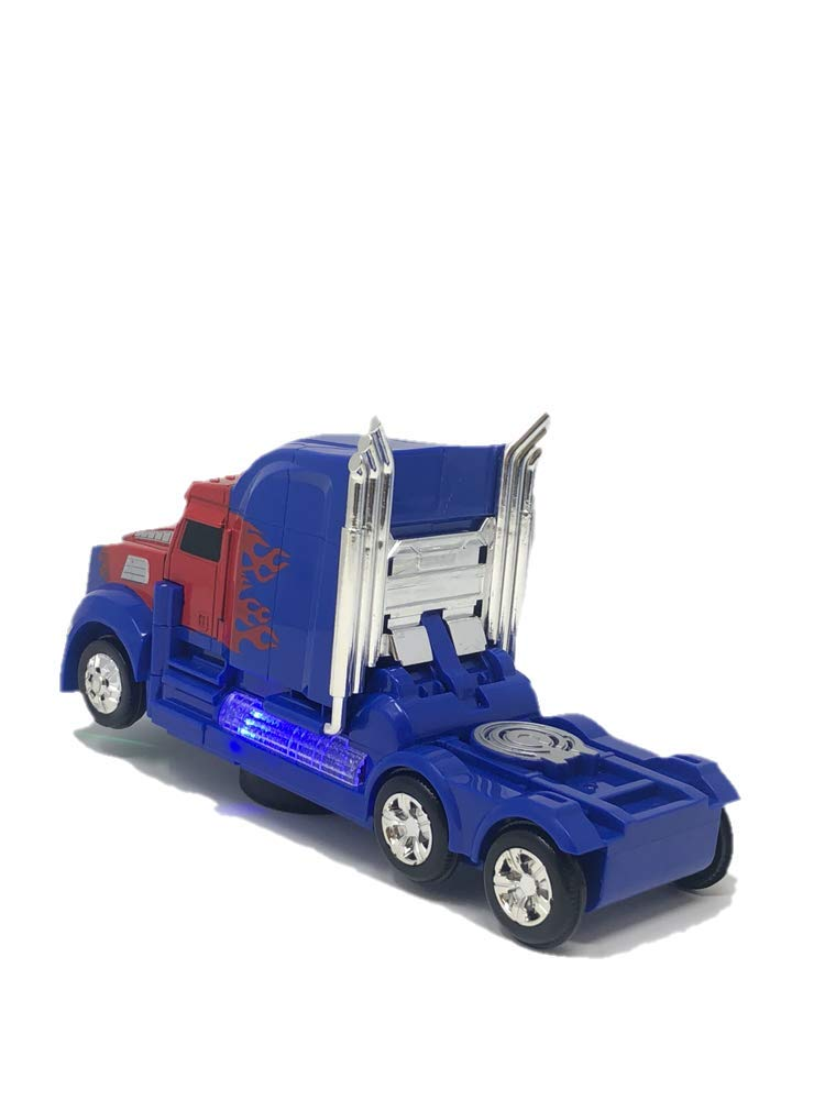 INCHOI Robot Races car Battery Operated Bump and Go Transforming Toys for Kids Realistic Engine Sounds /& Beautiful Flash Lights Auto Transforming Auto Robots Action Figure and Toy Vehicles
