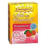 Emergen-C 1000 mg Vitamin C Travel Box, Raspberry 0.32 oz Pack of 6