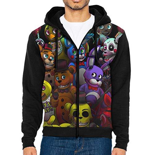 Men's FNAF 3D Custom Zip Hoodie Jacket Long Sleeve Sweatshirt S