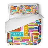 SanChic Duvet Cover Set Pop Geek Culture Interests Hobbies Hobby Tech Fanboy Movie Nerdy Decorative Bedding Set 2 Pillow Shams King Size