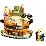 Noah's Ark Porcelain Hinged Trinket Box