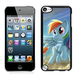 iPod Touch 5 My Little Pony Rainbow Dash Black Screen Cellphone Case Attractive and Custom Design