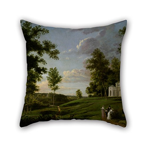 Throw Pillow Covers of Oil Painting Thomas Birch - Southeast View of 'Sedgeley Park,' The Country Seat of James Cowles Fisher, Esq. for Outdoor Wife Relatives Christmas Floor Couples 18 ()