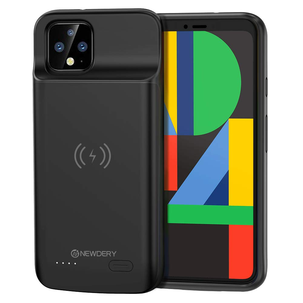 NEWDERY Google Pixel 4 XL Battery Case, Qi Wireless Charging Compatible, 5000mAh Slim Extended Rechargeable External Charger Case Compatible Google Pixel 4 XL by NEWDERY