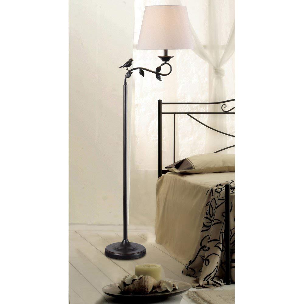 Kenroy Home 32613ORB Birdsong Floor Lamp Oil Rubbed Bronze & Gold Highlights