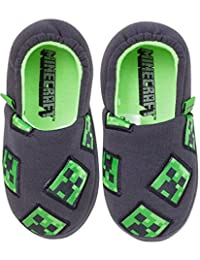 Vanilla Underground Minecraft Creeper Boy's Slippers