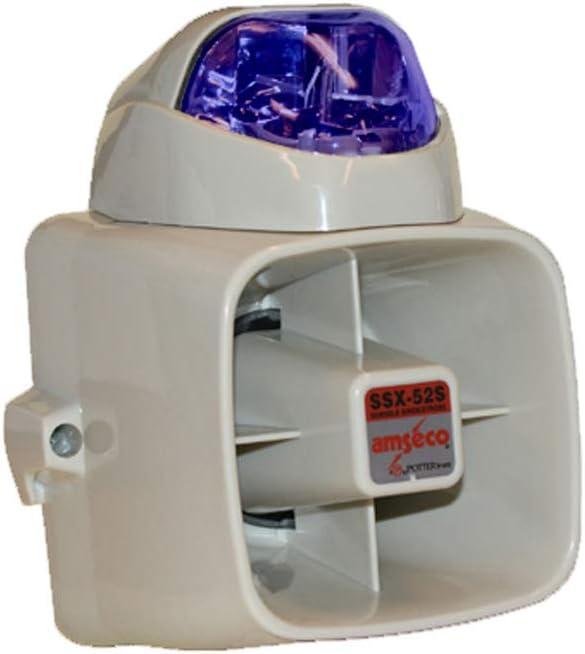 4150026 Potter SSX-52SB Durable Siren & Blue Strobe