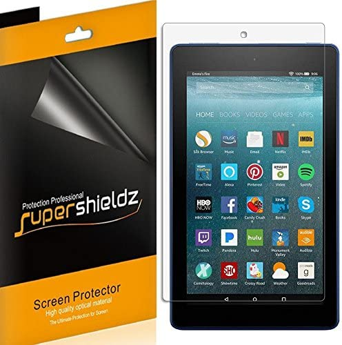 (3 Pack) Supershieldz for All New Fire 7 Tablet 7 inch Screen Protector, (ninth and seventh Generation, 2019 and 2017 Release), High Definition Clear Shield (PET)