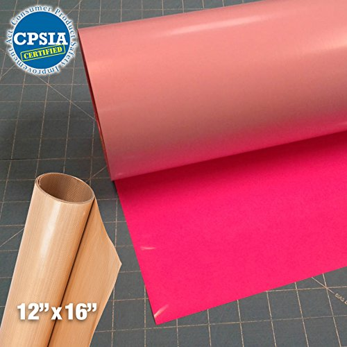 Siser Easyweed Fluorescent Pink Heat Transfer Craft Vinyl Roll (100ft x 15'' Bulk w/ Teflon roll) by Siser