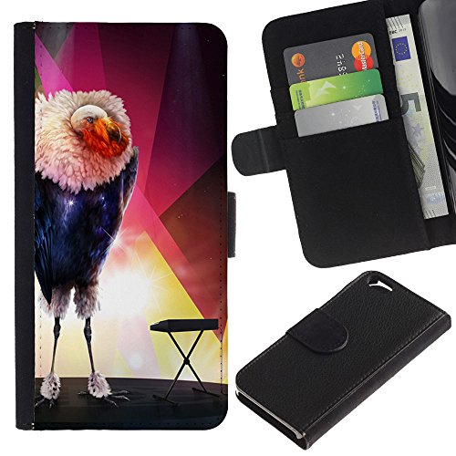 EuroCase - Apple Iphone 6 4.7 - The Glamorous Bird - Cuir PU Coverture Shell Armure Coque Coq Cas Etui Housse Case Cover