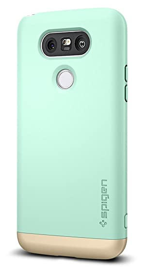 buy popular 8c9f1 ba041 LG G5 Case, Spigen® [Style Armor] Protective [Mint] SOFT-Interior Scratch  Protection Metallic Finished Base with Dual Layer Protection Slim Trendy ...