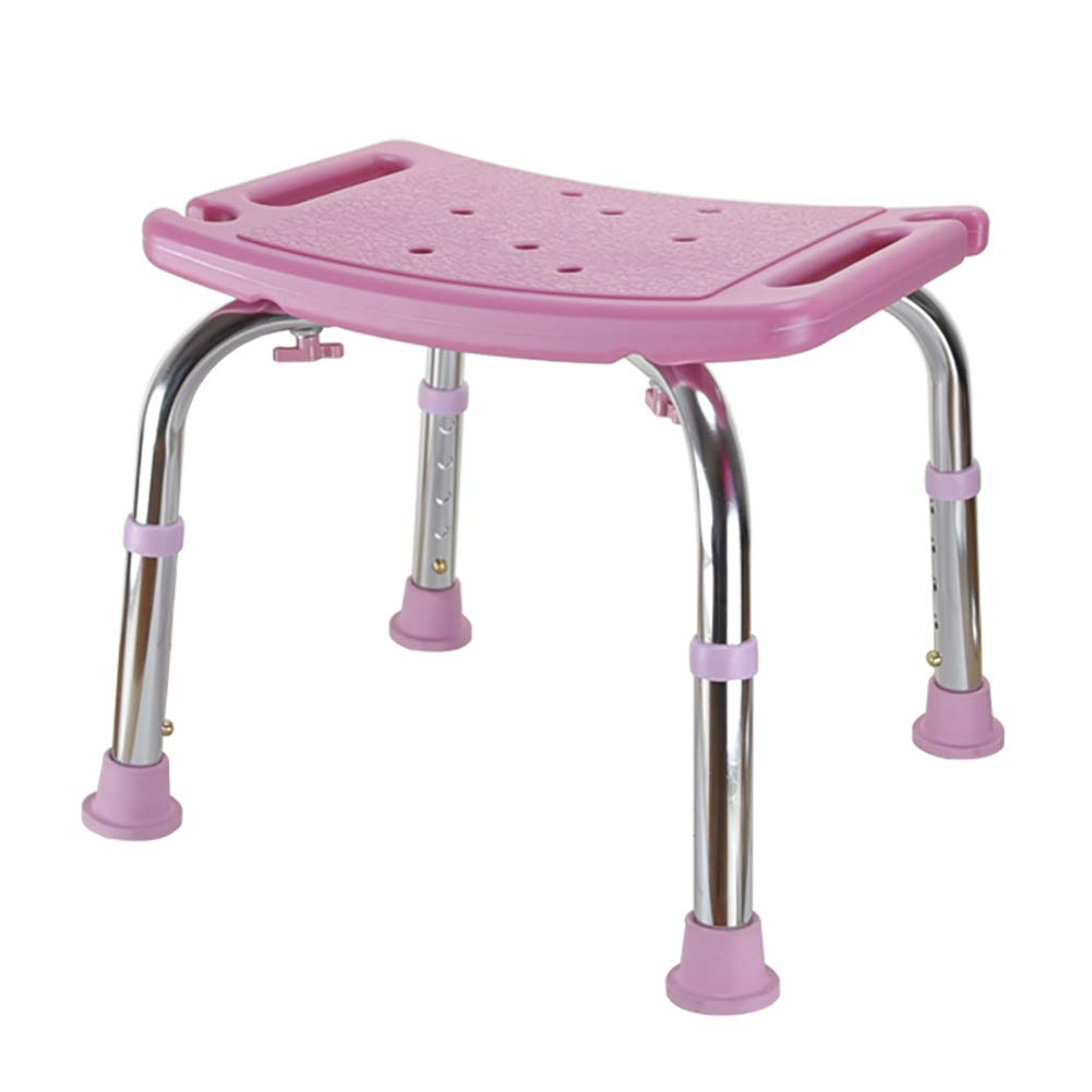 Ai Non-slip Tabletop Tub Stool Seat, Adjustable Shower Chair Bench Maternity Bath Chair 2 Color Optional (Color : Pink)