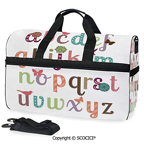 (Travel Duffel Bag Cute Girly Feminine Typography Set Personalized choice)