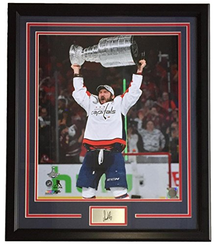 - Alexander Ovechkin Framed 16x20 Washington Capitals 2018 Stanley Cup Trophy Photo w/Laser Engraved Facsimile Signature