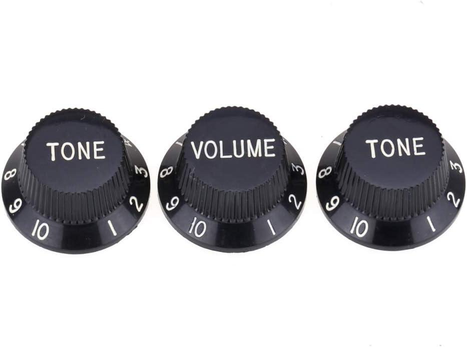 Blanc Musiclily Pro Imperial Inch Size Boutons de Potentiom/ètres 1 Volume 2 Tone Knobs pour USA Strat Style Guitare /électrique