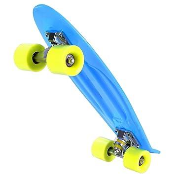 sakj-b 4 Ruedas Skateboard Board Longboard Boy Girl Retro Cruiser Skate Board niños niña: Amazon.es: Deportes y aire libre